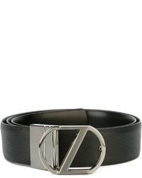 Z Zegna Logo Plaque Belt