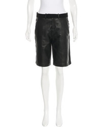 IRO Augie Leather Trimmed Shorts