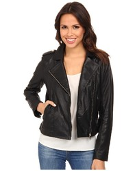 Cole Haan 20 Leather Moto Jacket