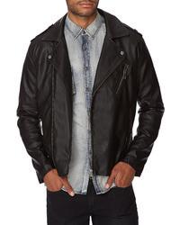 21men 21 Faux Leather Moto Jacket