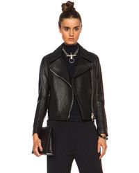 3.1 Phillip Lim Pointed Collar Moto Leather Jacket