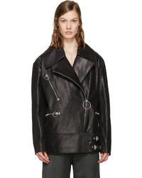 Acne Studios Black Morely Biker Jacket