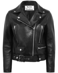 Acne Studios Leather Biker Jacket Black