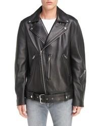 Acne Studios Nate Belted Leather Moto Jacket