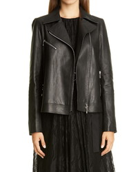 Lafayette 148 New York Aisling Leather Moto Jacket
