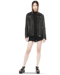 Alexander Wang Waxy Cow Leather Biker Jacket