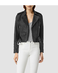 AllSaints Baron Leather Biker Jacket
