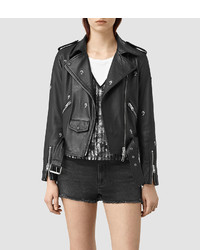 AllSaints Eaves Leather Stud Biker Jacket