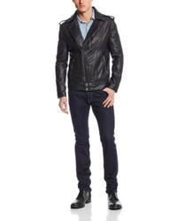 American Stitch Faux Leather Moto Jacket