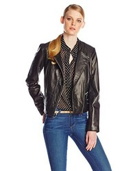 Andrew Marc Marc New York By Ginny Faux Leather Moto Jacket