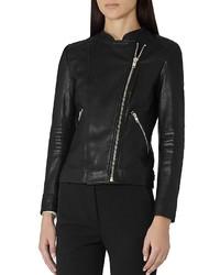 Reiss Anna Leather Biker Jacket