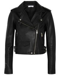 IRO Ashville Leather Biker Jacket Black