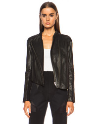 Helmut Lang Asymmetric Blistered Leather Jacket