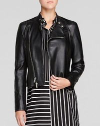 DKNY Asymmetric Leather Moto Jacket