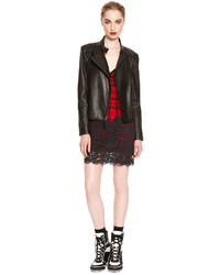 DKNY Asymmetrical Leather Jacket