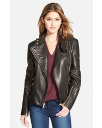 Vince Camuto Asymmetrical Leather Moto Jacket