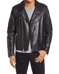 KARL LAGERFELD PARIS Asymmetrical Moto Jacket