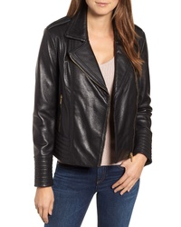 Badgley Mischka Collection Badgley Mischka Gia Leather Biker Jacket