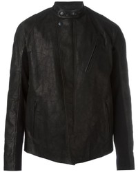 Alexander McQueen Band Collar Biker Jacket