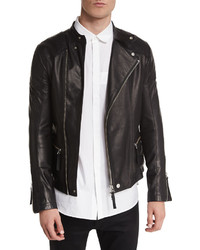 Helmut Lang Basic Rider Leather Moto Jacket Black