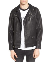 Obey Bastards Faux Leather Biker Jacket