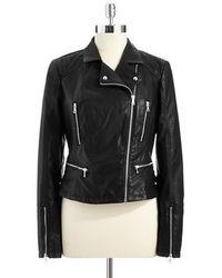 Bernardo Faux Leather Moto Jacket
