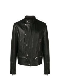 Diesel Black Gold Biker Jacket In Nappa Leather