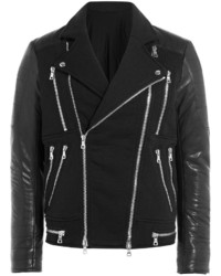 Balmain Biker Jacket With Leather