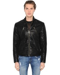 Bikkembergs Biker Leather Jacket