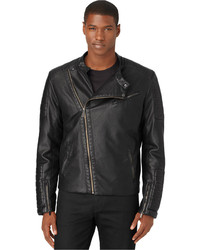 Calvin Klein Black Faux Leather Motorcycle Jacket