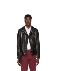 Schott Black Leather 50s Perfecto Motorcycle Jacket