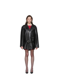 Balenciaga Black Leather 80s Biker Jacket