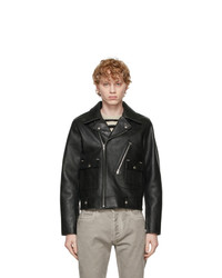 Maison Margiela Black Leather Biker Jacket