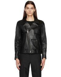 N. Hoolywood Black Leather Biker Jacket