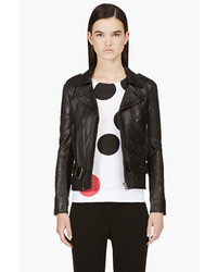 Surface to Air Black Leather Biker Jacket
