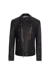Paul Smith Black Leather Biker Jacket