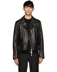 Givenchy Black Leather Biker Jacket