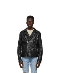 Ksubi Black Leather Capitol Jacket