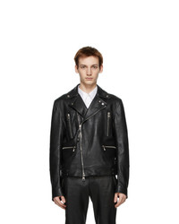 Alexander McQueen Black Leather Classic Biker Jacket