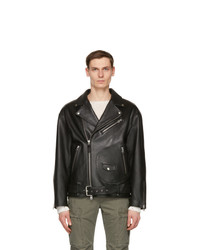Mackage Black Leather Clet Jacket