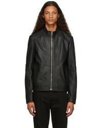 Hugo Black Leather Lokis Jacket