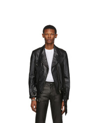 Alexander Wang Black Leather Martingale Moto Jacket