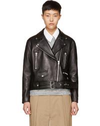 Acne Studios Black Leather Merlyn Biker Jacket