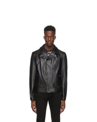 Schott Black Leather Motorcycle Jacket