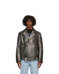 Ader Error Black Leather Nor Jacket