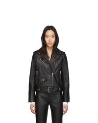 Stand Studio Black Leather Polly Biker Jacket
