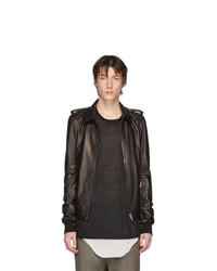 Rick Owens Black Leather Rotterdam Jacket
