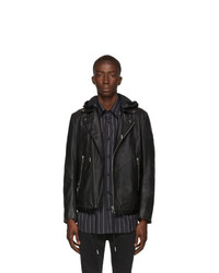 Diesel Black Leather Solove Biker Jacket