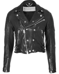Burberry Brit Leather Matthias Biker Jacket