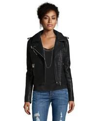Wyatt Brown Vegan Leather Asymmetrical Moto Jacket